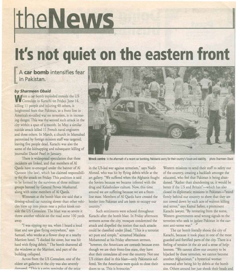 It's not quiet on the Eastern Front, The Coast June 27 July 2002 scan