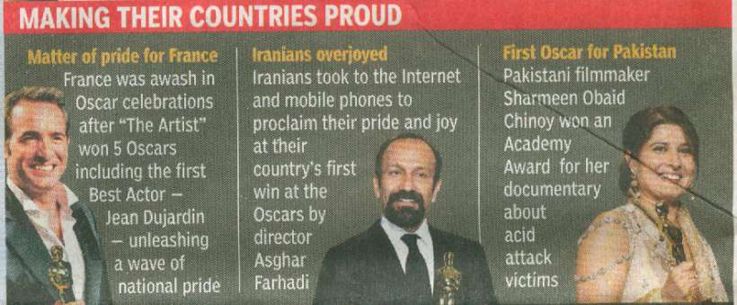 'Making their Countries Proud' - Times of India Global